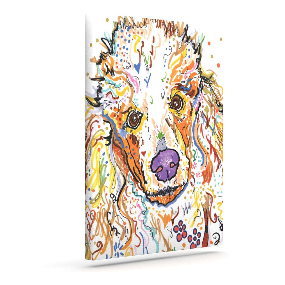 "Rebecca Fischer ""Lily"" Poodle Outdoor Canvas Wall Art - KESS InHouse  - 1"