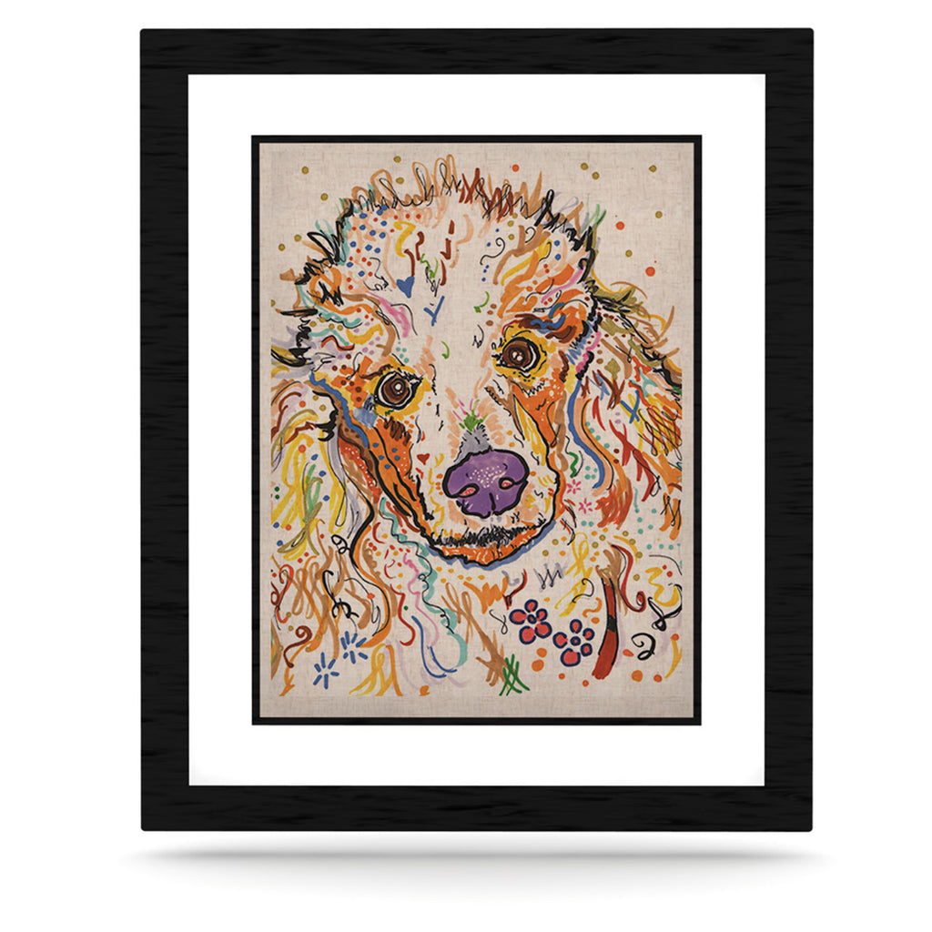 "Rebecca Fischer ""Lily"" Poodle KESS Naturals Canvas (Frame not Included) - KESS InHouse  - 1"