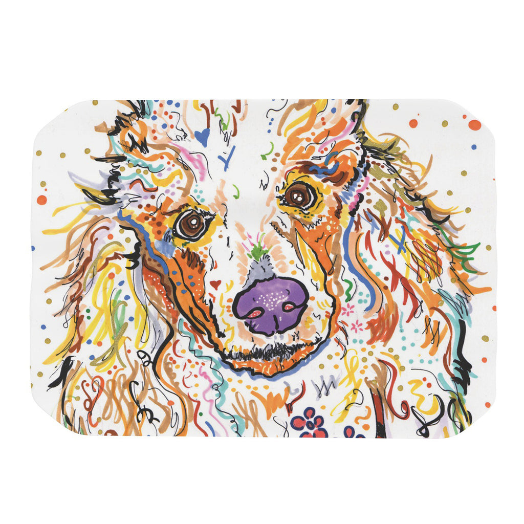 "Rebecca Fischer ""Lily"" Poodle Place Mat - KESS InHouse"
