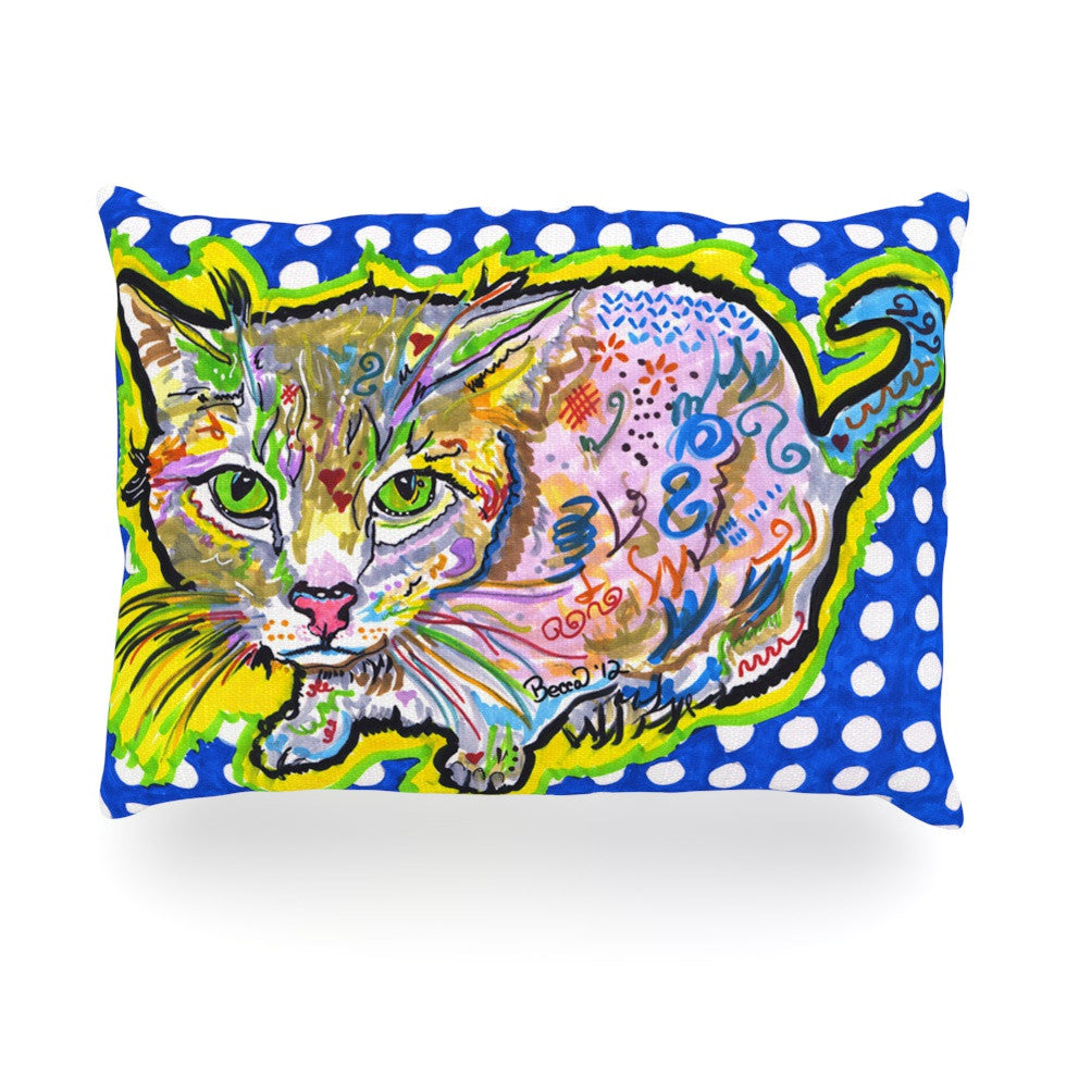 "Rebecca Fischer ""Abraham"" Blue Yellow Oblong Pillow - KESS InHouse"