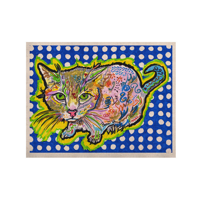 "Rebecca Fischer ""Abraham"" Blue Yellow KESS Naturals Canvas (Frame not Included) - KESS InHouse  - 1"