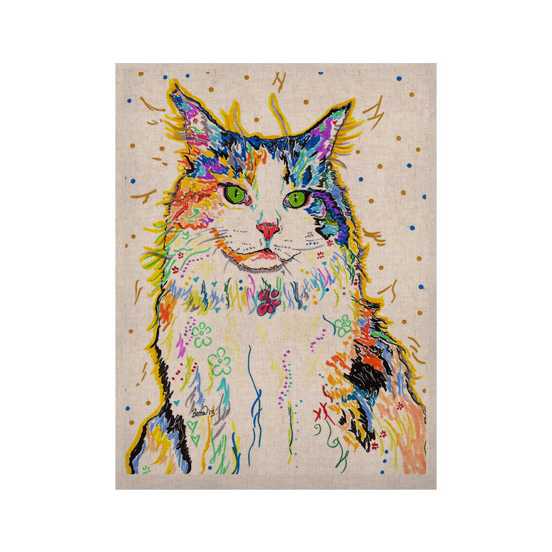 "Rebecca Fischer ""Royal"" Rainbow Cat KESS Naturals Canvas (Frame not Included) - KESS InHouse  - 1"