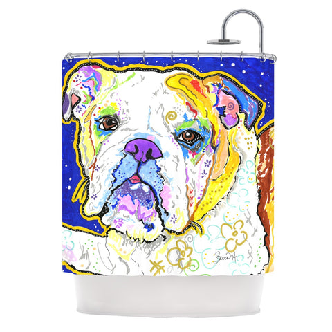 Rebecca Fischer Mavis Bull Dog Shower Curtain
