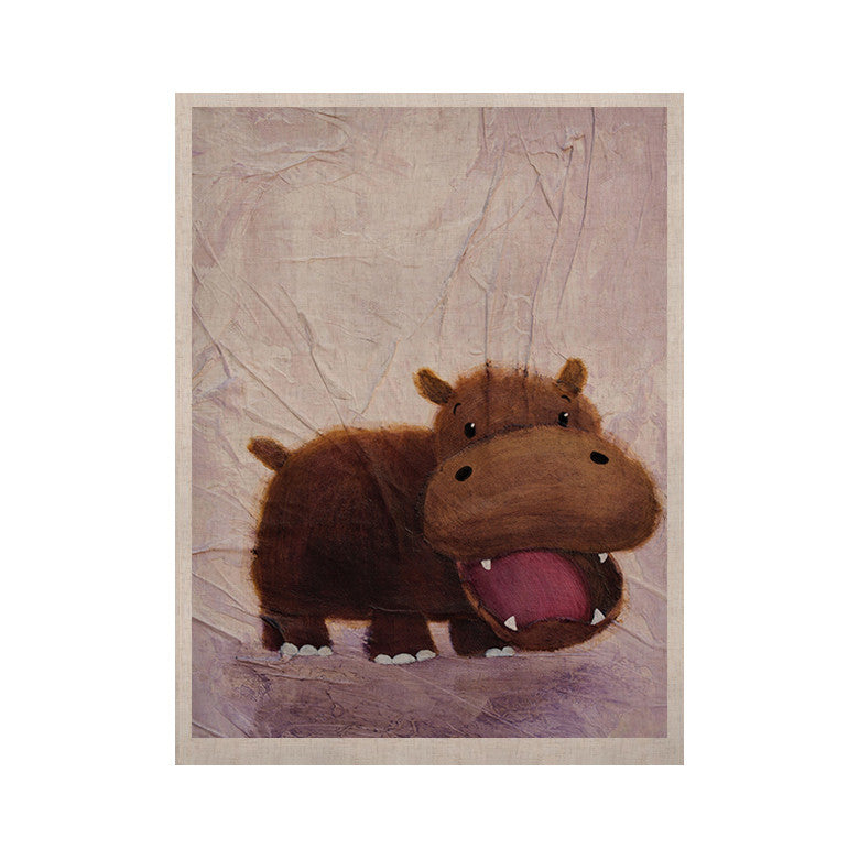 "Rachel Kokko ""The Happy Hippo"" KESS Naturals Canvas (Frame not Included) - KESS InHouse  - 1"
