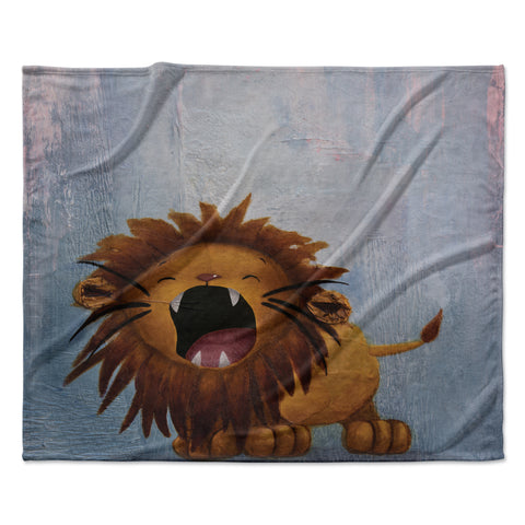 "Rachel Kokko ""Dandy Lion"" Fleece Throw Blanket"
