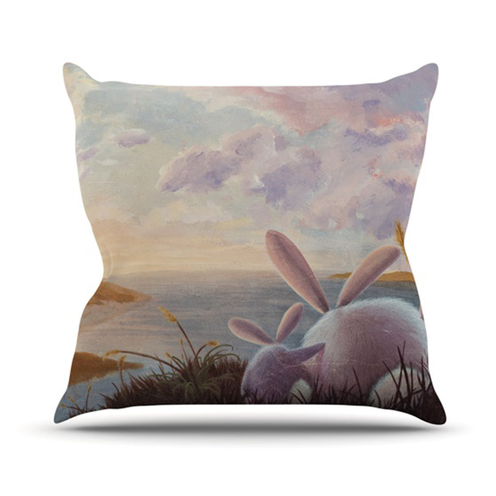 "Rachel Kokko ""A New Perspective"" Throw Pillow - KESS InHouse  - 1"