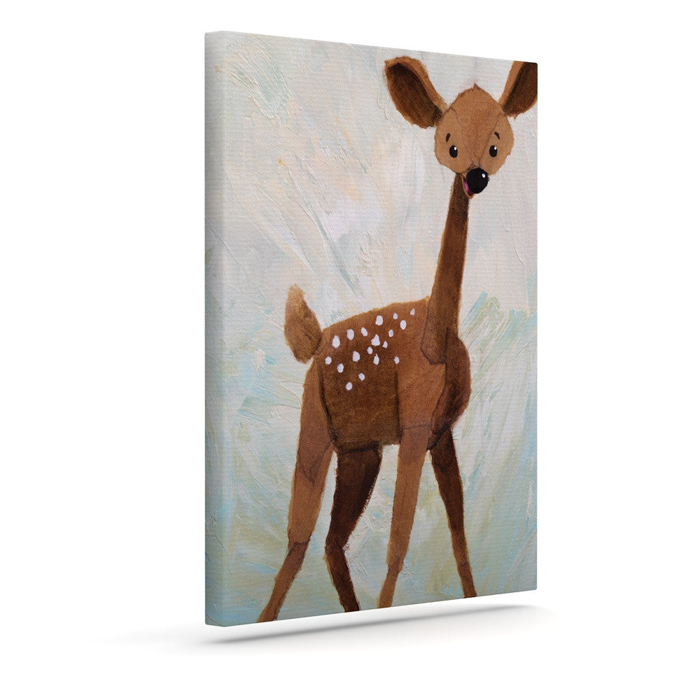 "Rachel Kokko ""Oh Deer"" Outdoor Canvas Wall Art - KESS InHouse  - 1"