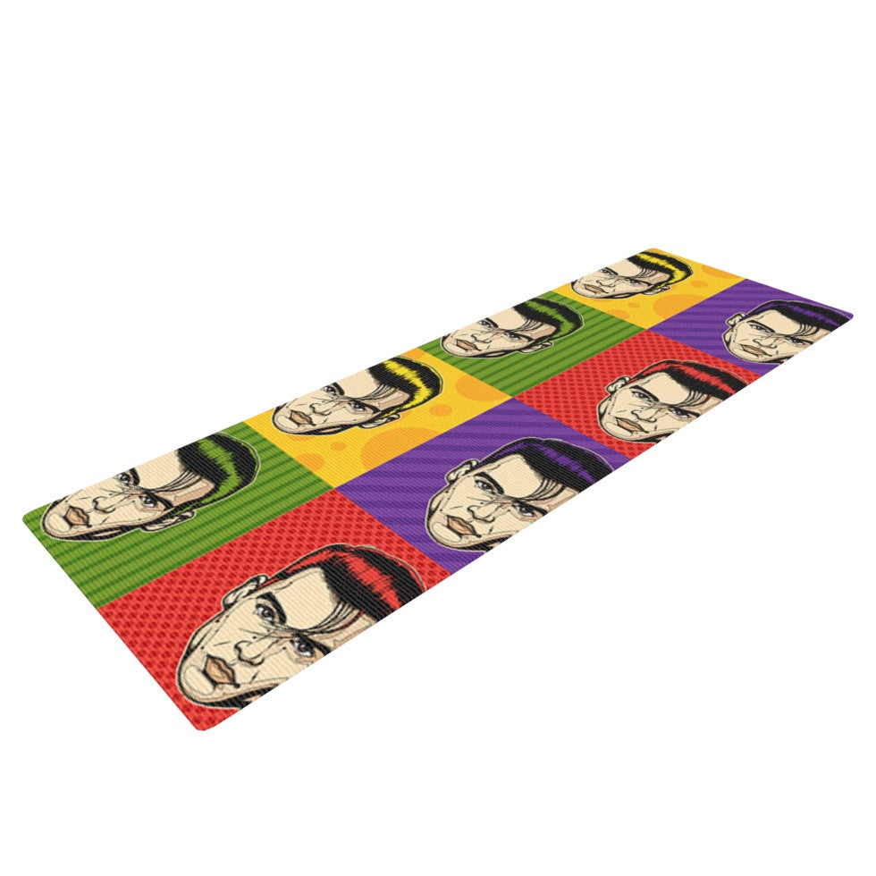 "Roberlan ""Johnny Depop"" Pop Art Yoga Mat - KESS InHouse  - 1"
