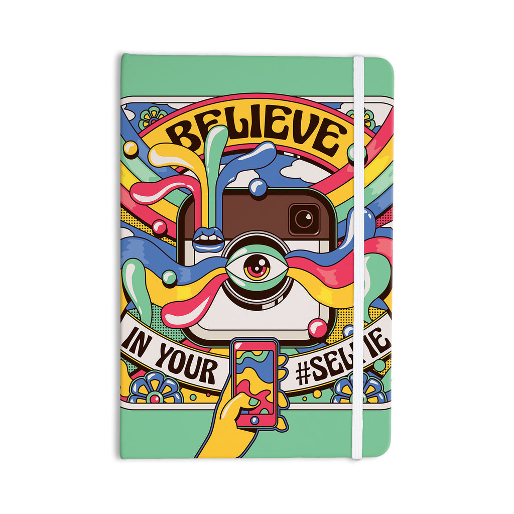 "Roberlan ""Selfie"" Multicolor Camera Everything Notebook - KESS InHouse  - 1"