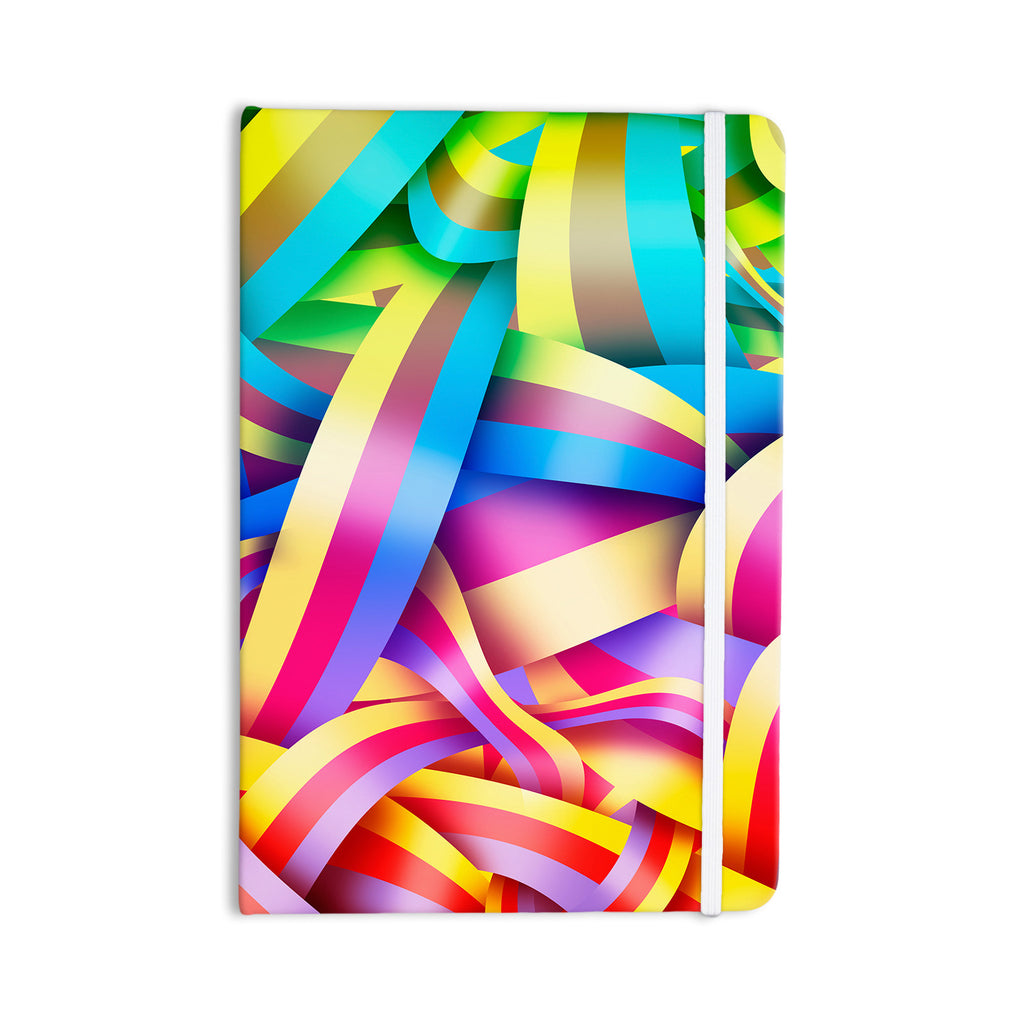 "Roberlan ""Medal"" Rainbow Lines Everything Notebook - KESS InHouse  - 1"