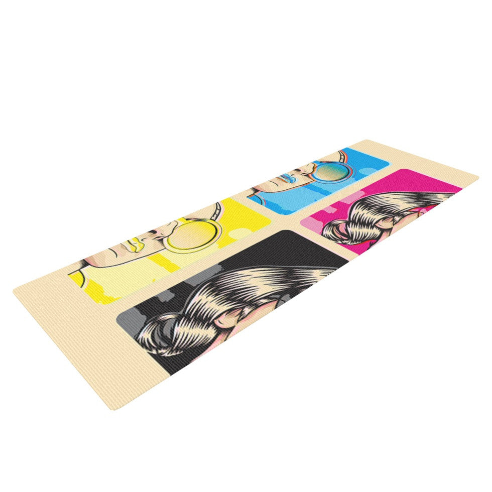 "Roberlan ""CMYK Fashion"" Pop Art Yoga Mat - KESS InHouse  - 1"