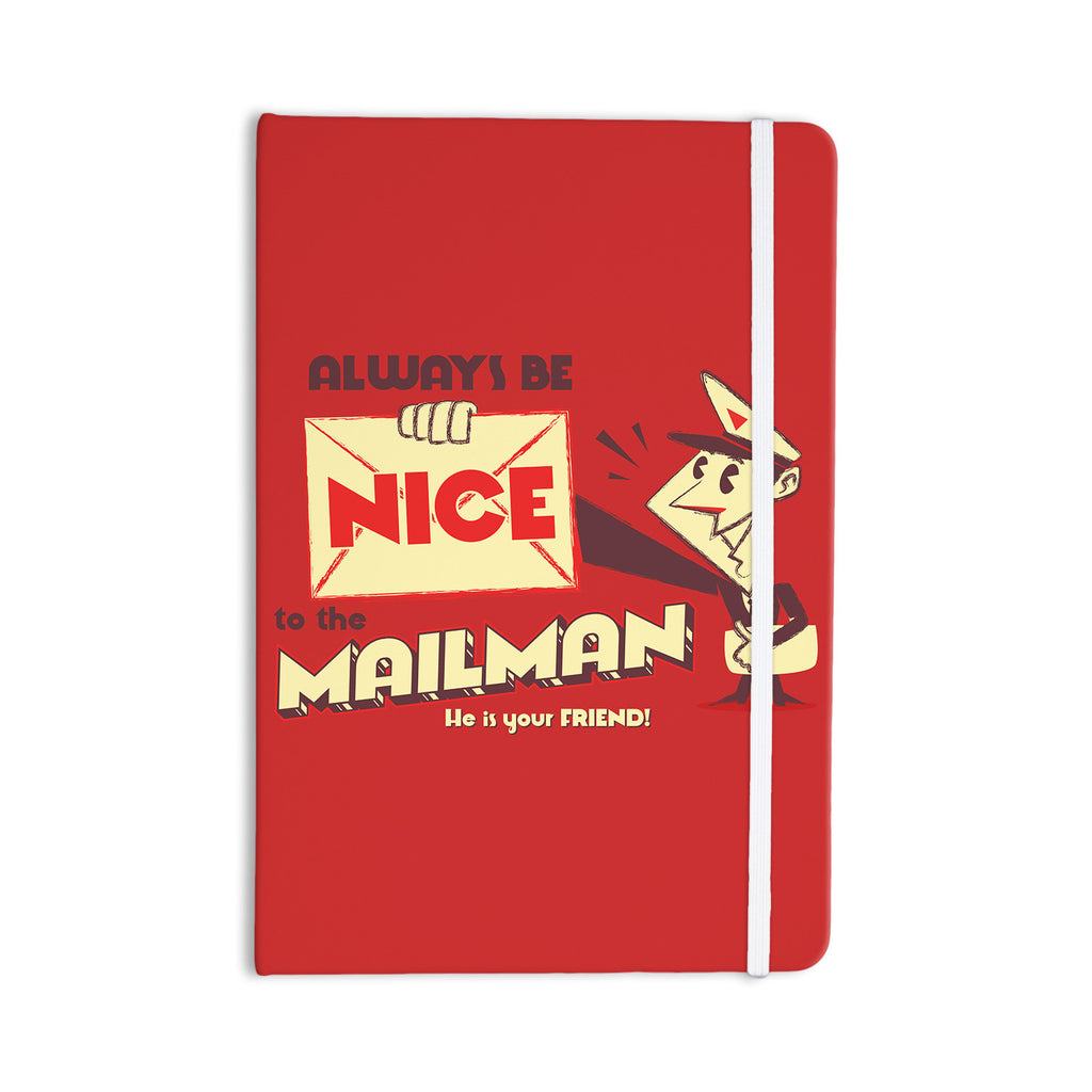 "Roberlan ""Be Nice To The Mailman"" Red Tan Everything Notebook - KESS InHouse  - 1"