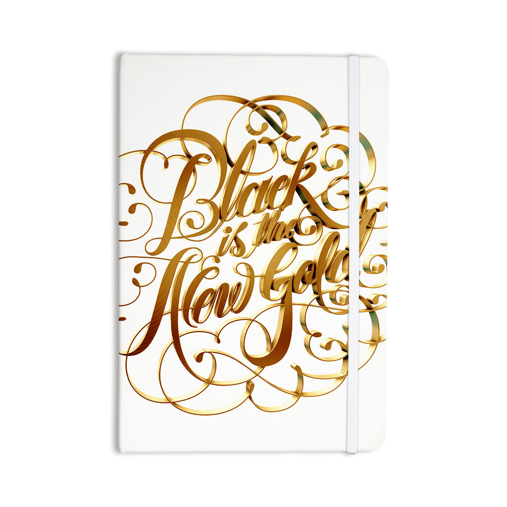 "Roberlan ""Black is the New Gold"" Typography Everything Notebook - KESS InHouse  - 1"