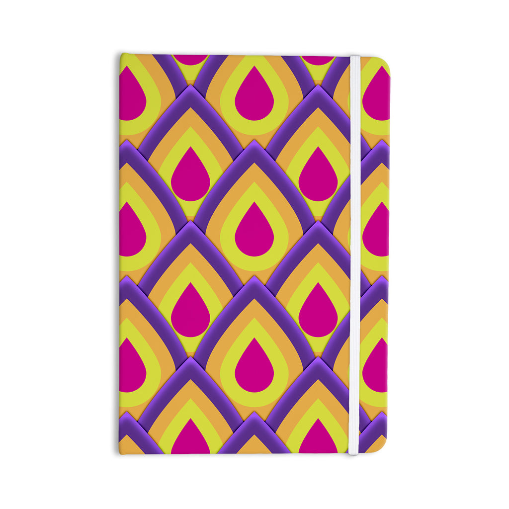 "Roberlan ""Pineapple"" Pink Yellow Everything Notebook - KESS InHouse  - 1"