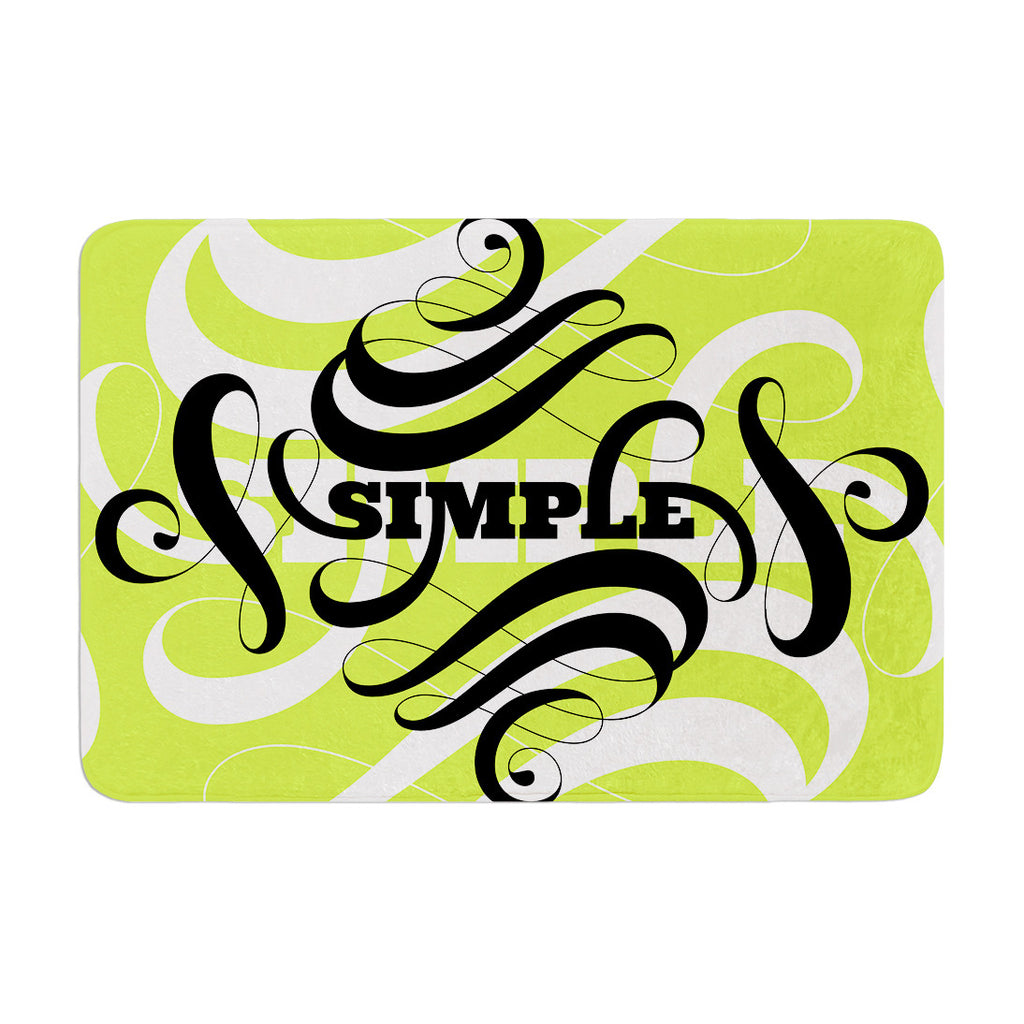 "Roberlan ""Simple"" Lime Green Memory Foam Bath Mat - KESS InHouse"
