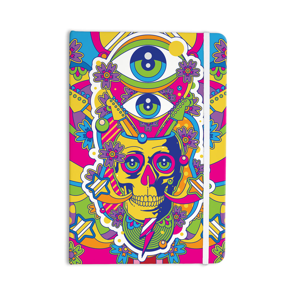 "Roberlan ""Skull"" Rainbow Illustration Everything Notebook - KESS InHouse  - 1"