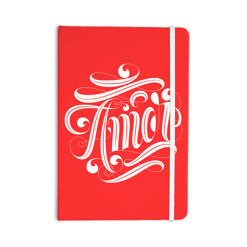 "Roberlan ""Amor"" Red White Everything Notebook - KESS InHouse  - 1"
