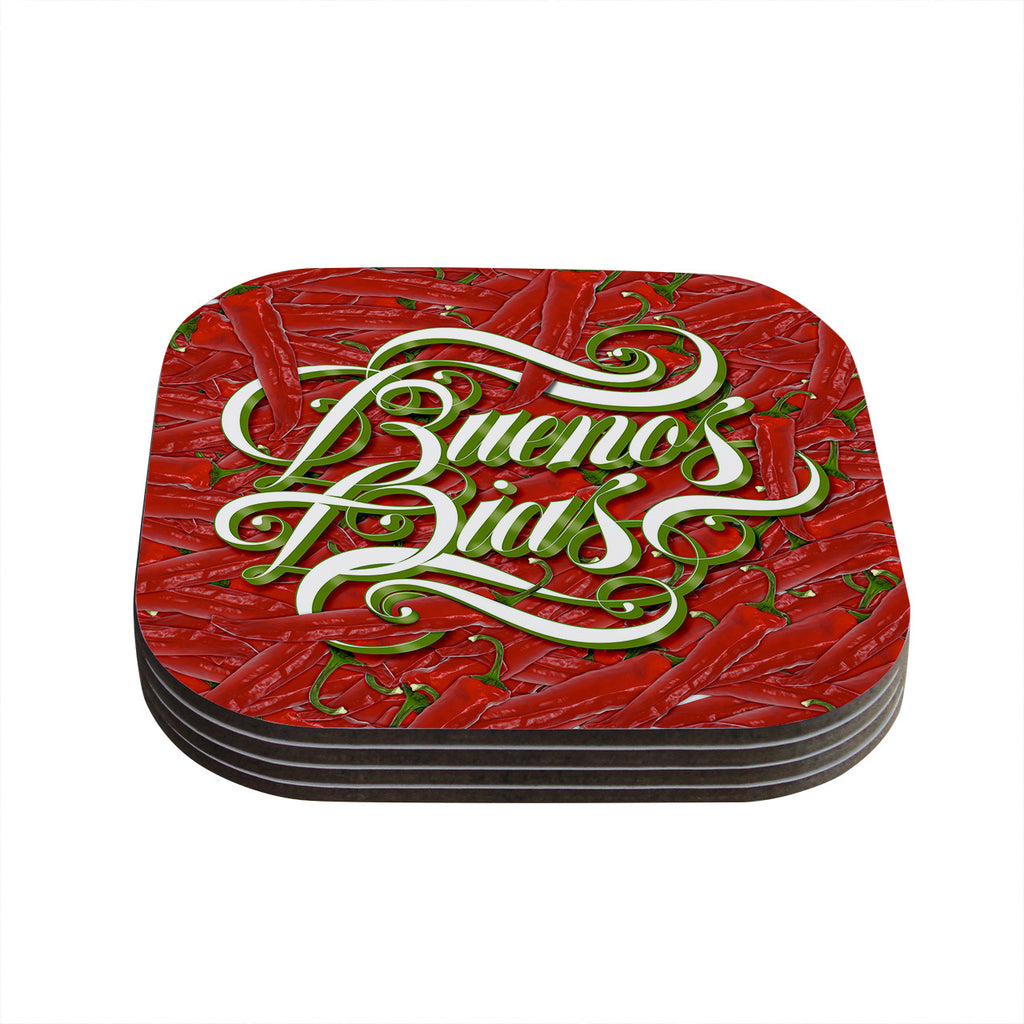 "Roberlan ""Buenos Dias"" Good Day Coasters (Set of 4)"