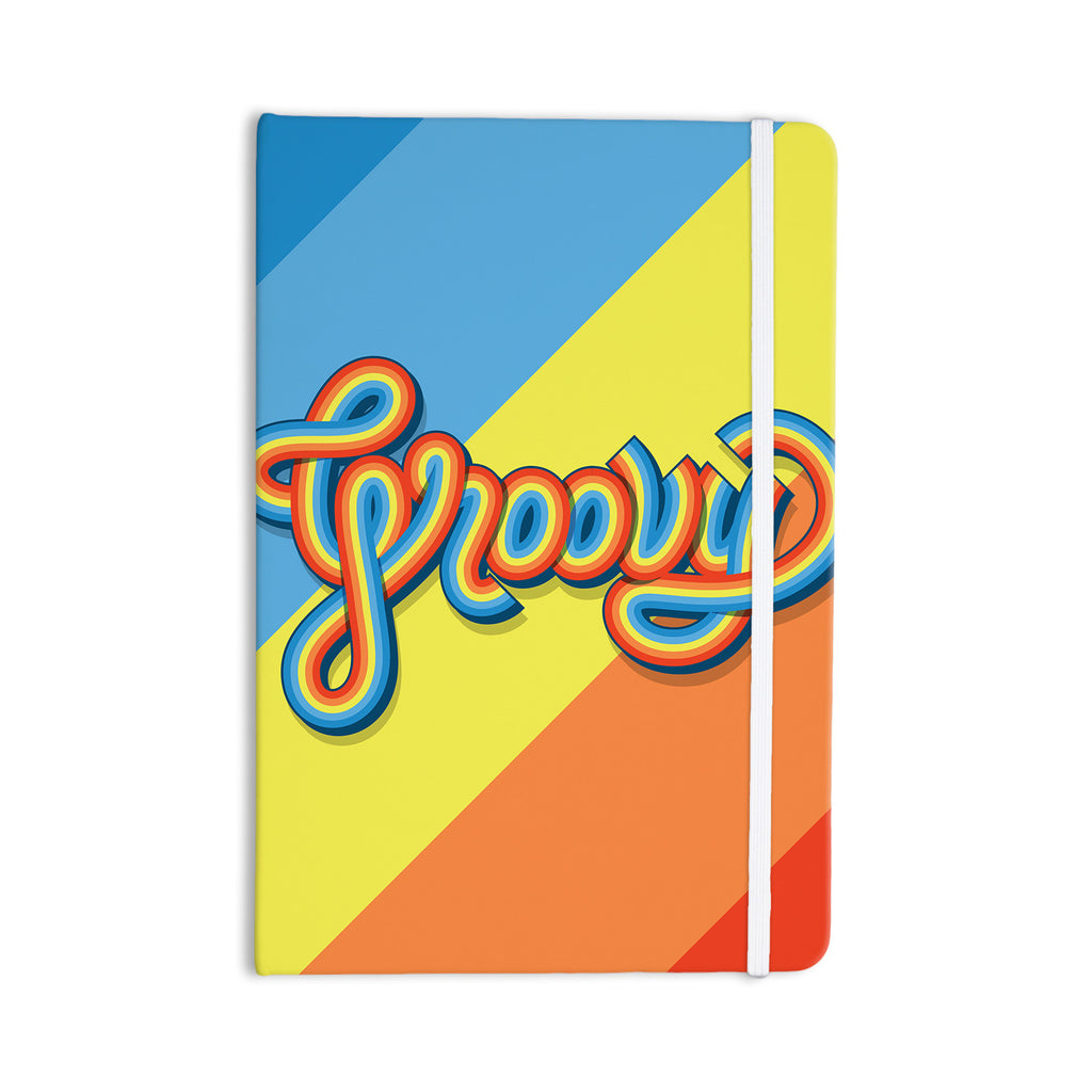 "Roberlan ""Groovy"" Multicolor Typography Everything Notebook - KESS InHouse  - 1"