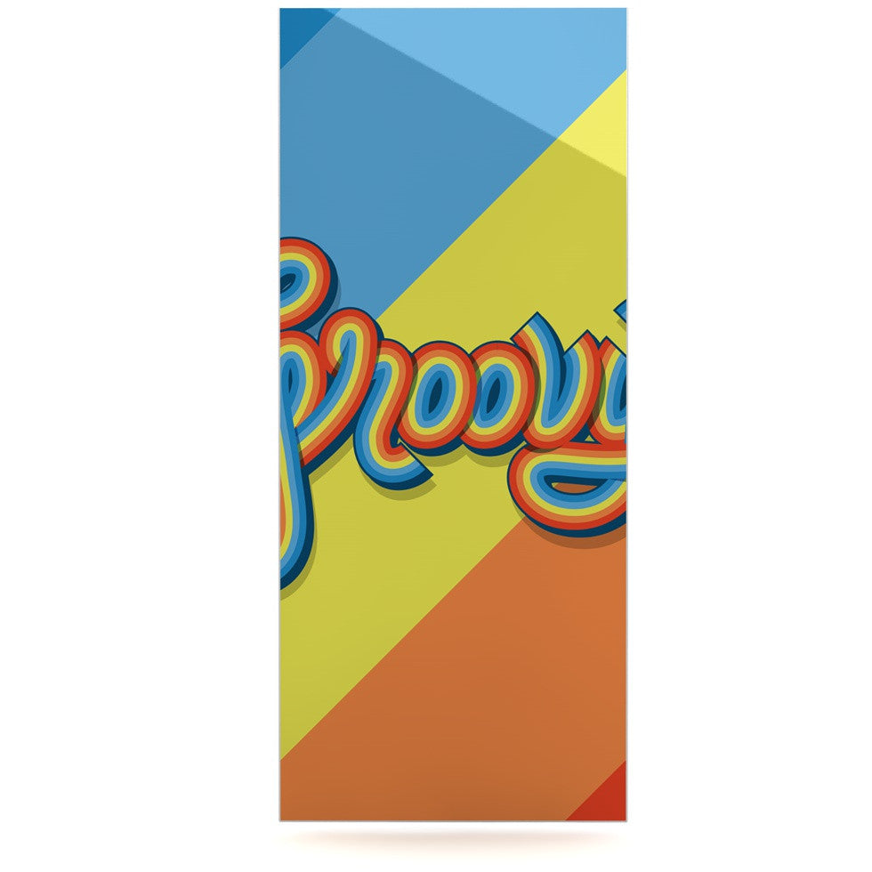"Roberlan ""Groovy"" Multicolor Typography Luxe Rectangle Panel - KESS InHouse  - 1"