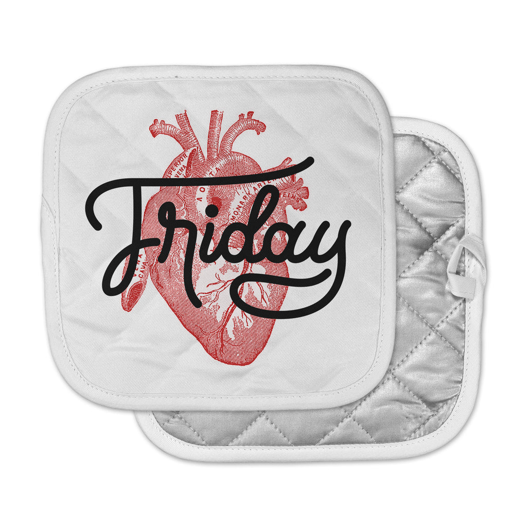 "Roberlan ""Friday"" Red Heart Pot Holder"