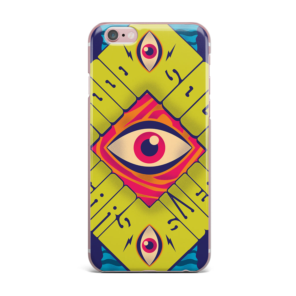 "Roberlan ""Blood Sweat Tears And Soul"" Green Square iPhone Case - KESS InHouse"