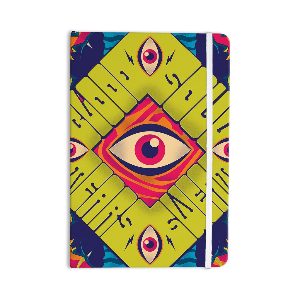 "Roberlan ""Blood Sweat Tears And Soul"" Green Square Everything Notebook - KESS InHouse  - 1"