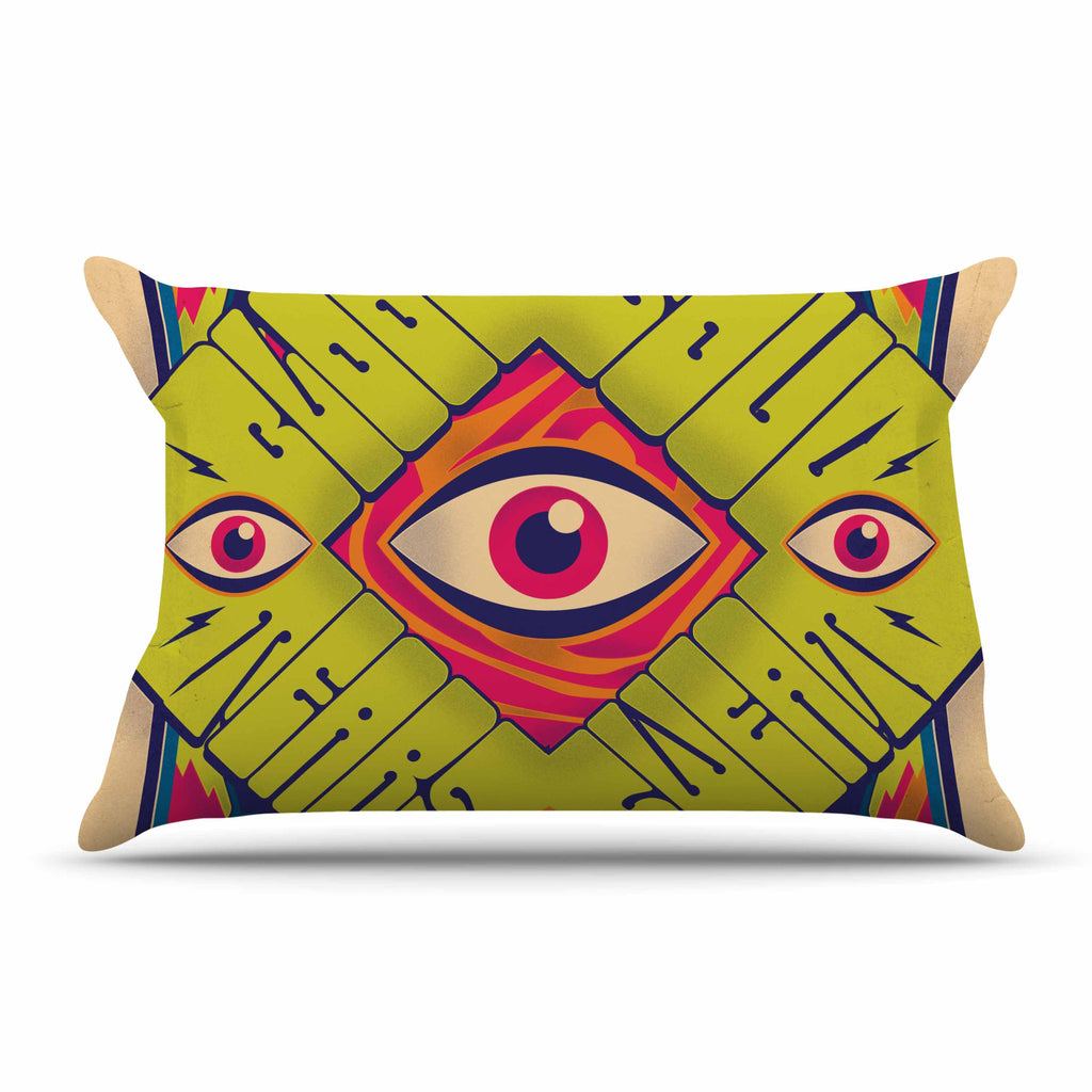 "Roberlan ""Blood Sweat Tears And Soul"" Green Square Pillow Sham - KESS InHouse"