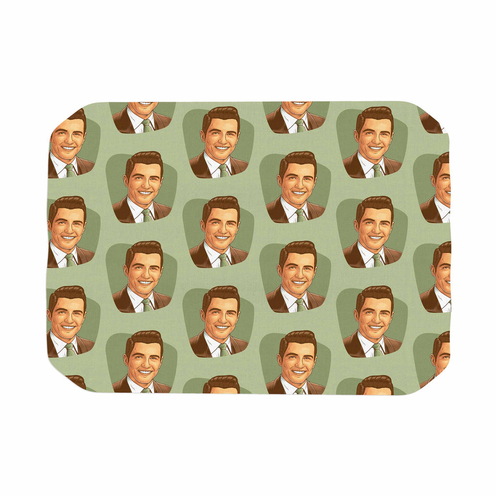 "Roberlan ""Retro Happy Fancy Dude"" Green Brown Vintage Pattern Place Mat"