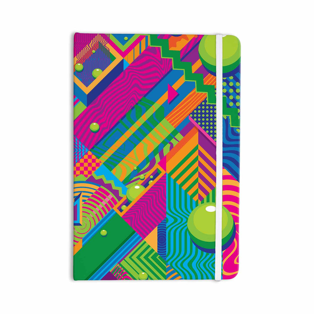 "Roberlan ""The Fountain"" Pink Green Abstract Pop Art Everything Notebook - KESS InHouse  - 1"