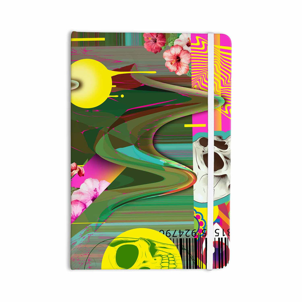 "Roberlan ""Almost Everything Collage"" Green Yellow Abstract Vintage Everything Notebook - KESS InHouse  - 1"