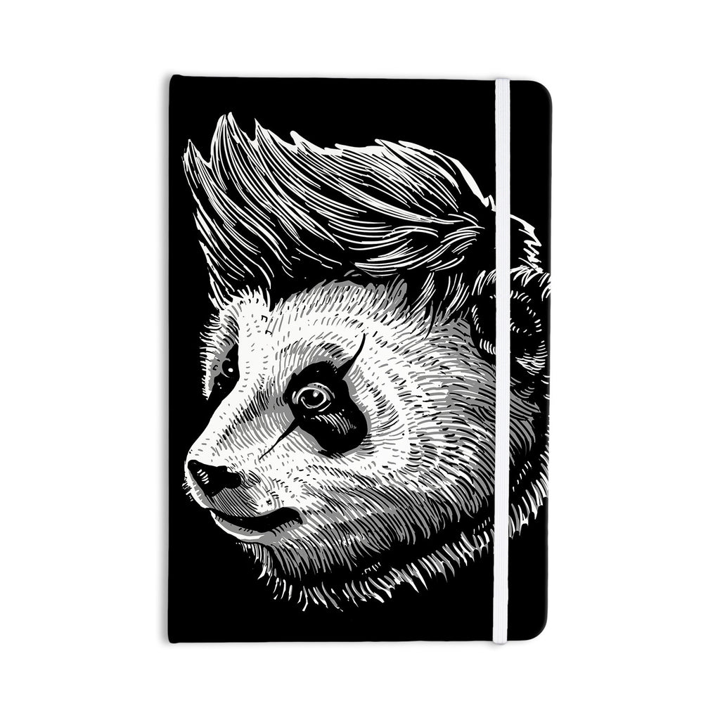 "BarmalisiRTB ""Funky Panda"" Black White Everything Notebook - KESS InHouse  - 1"