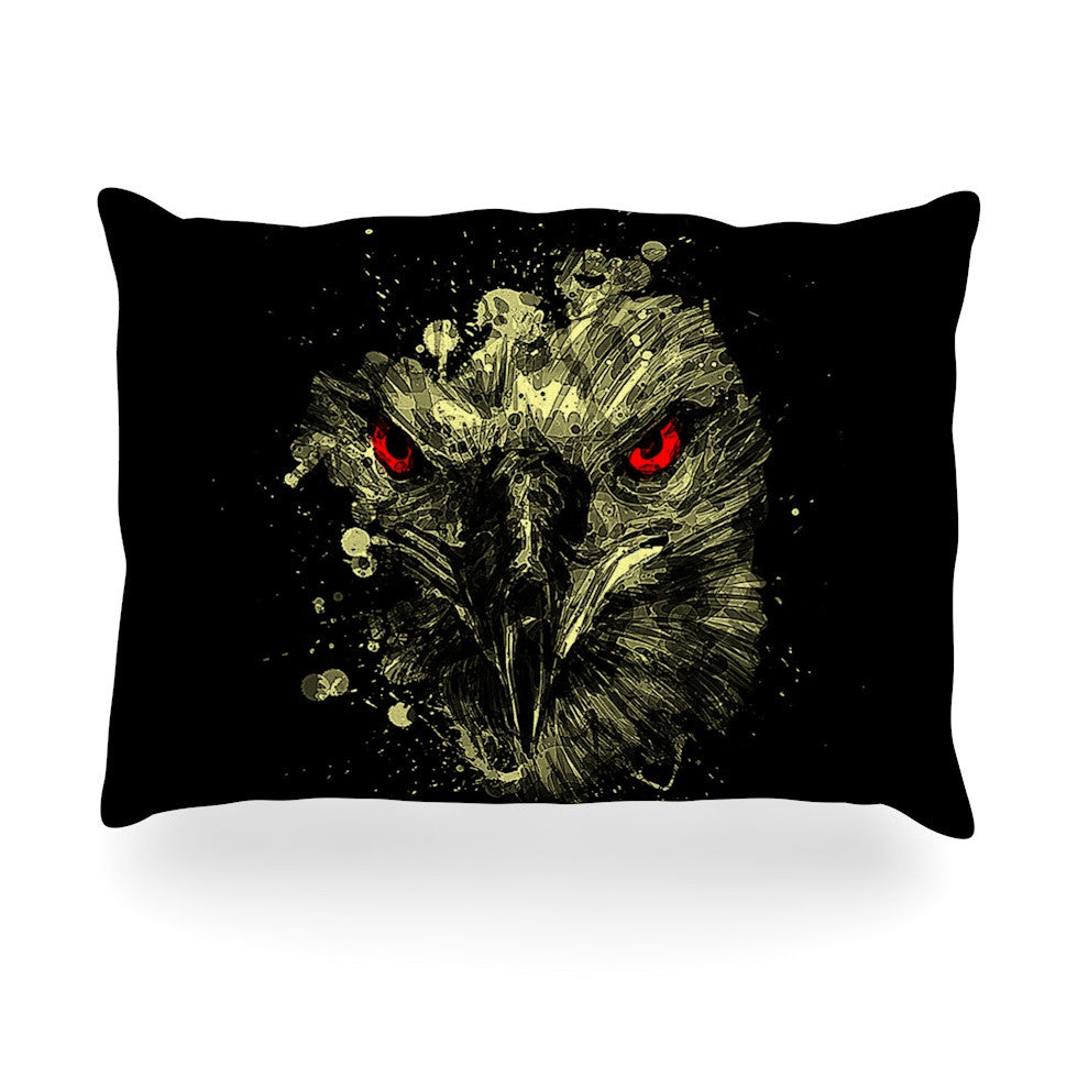 "BarmalisiRTB ""Eagle"" Black Yellow Oblong Pillow - KESS InHouse"