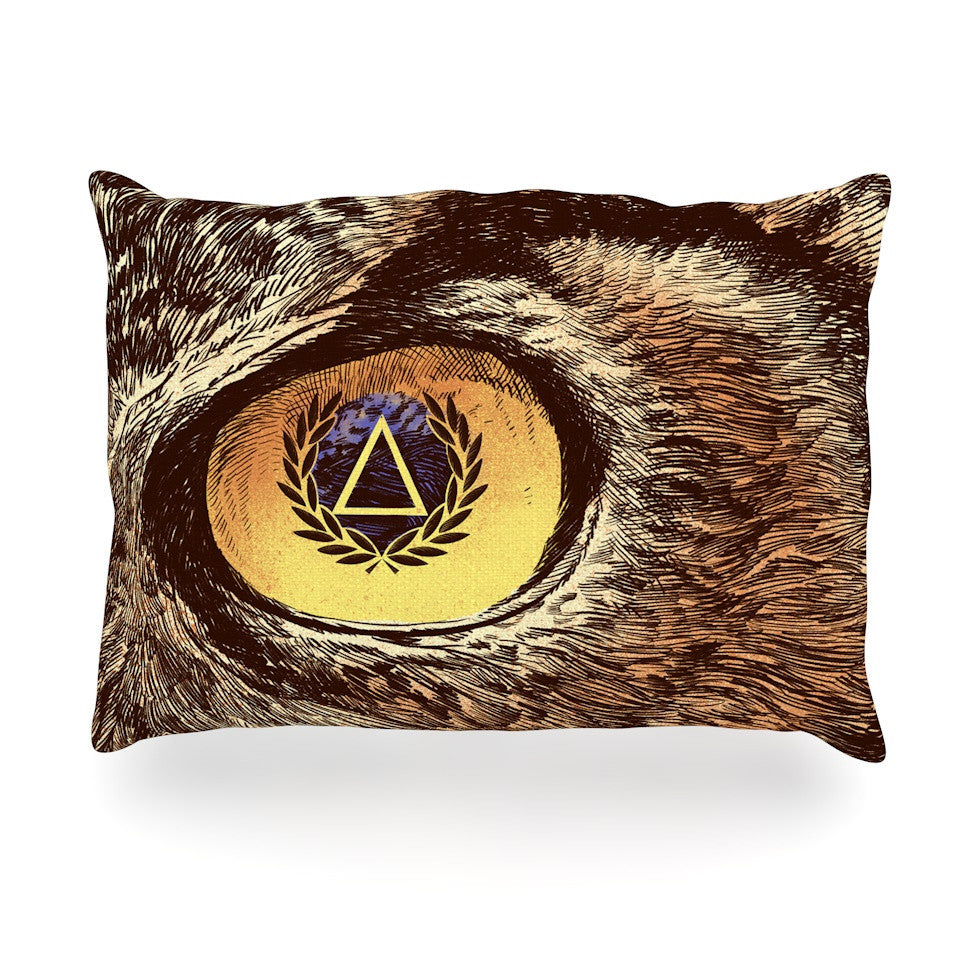 "BarmalisiRTB ""Sharp Eye"" Owl Oblong Pillow - KESS InHouse"