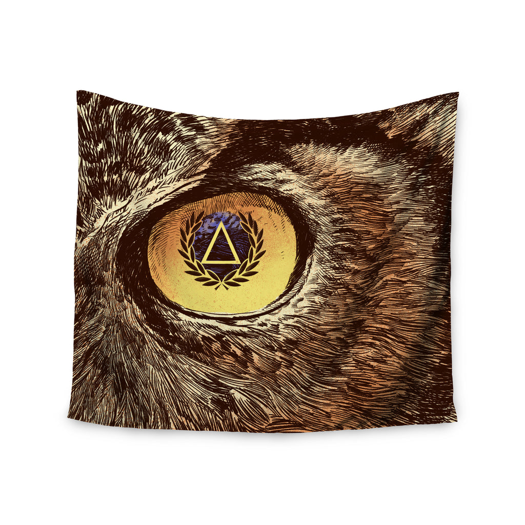 "BarmalisiRTB ""Sharp Eye"" Owl Wall Tapestry - KESS InHouse  - 1"