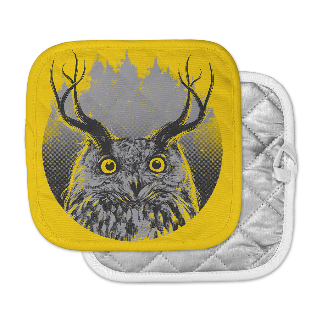 "BarmalisiRTB ""Majesty"" Yellow Owl Pot Holder"