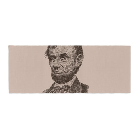 "BarmalisiRTB ""Abraham Lincoln"" Brown Vintage Bed Runner - KESS InHouse"