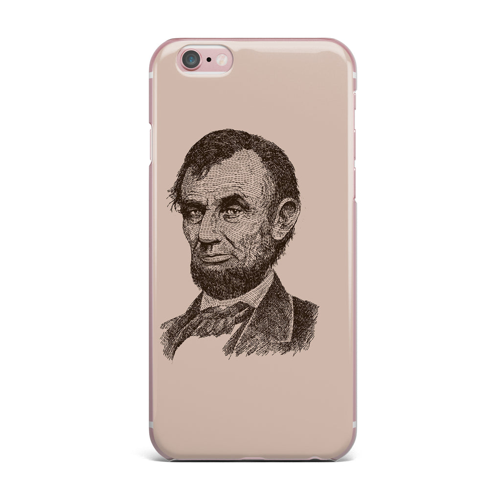 "BarmalisiRTB ""Abraham Lincoln"" Brown Vintage iPhone Case - KESS InHouse"