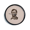 "BarmalisiRTB ""Abraham Lincoln"" Brown Vintage Modern Wall Clock"