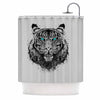 "BarmalisiRTB ""TIger Gaze"" Black Gray Shower Curtain - KESS InHouse"