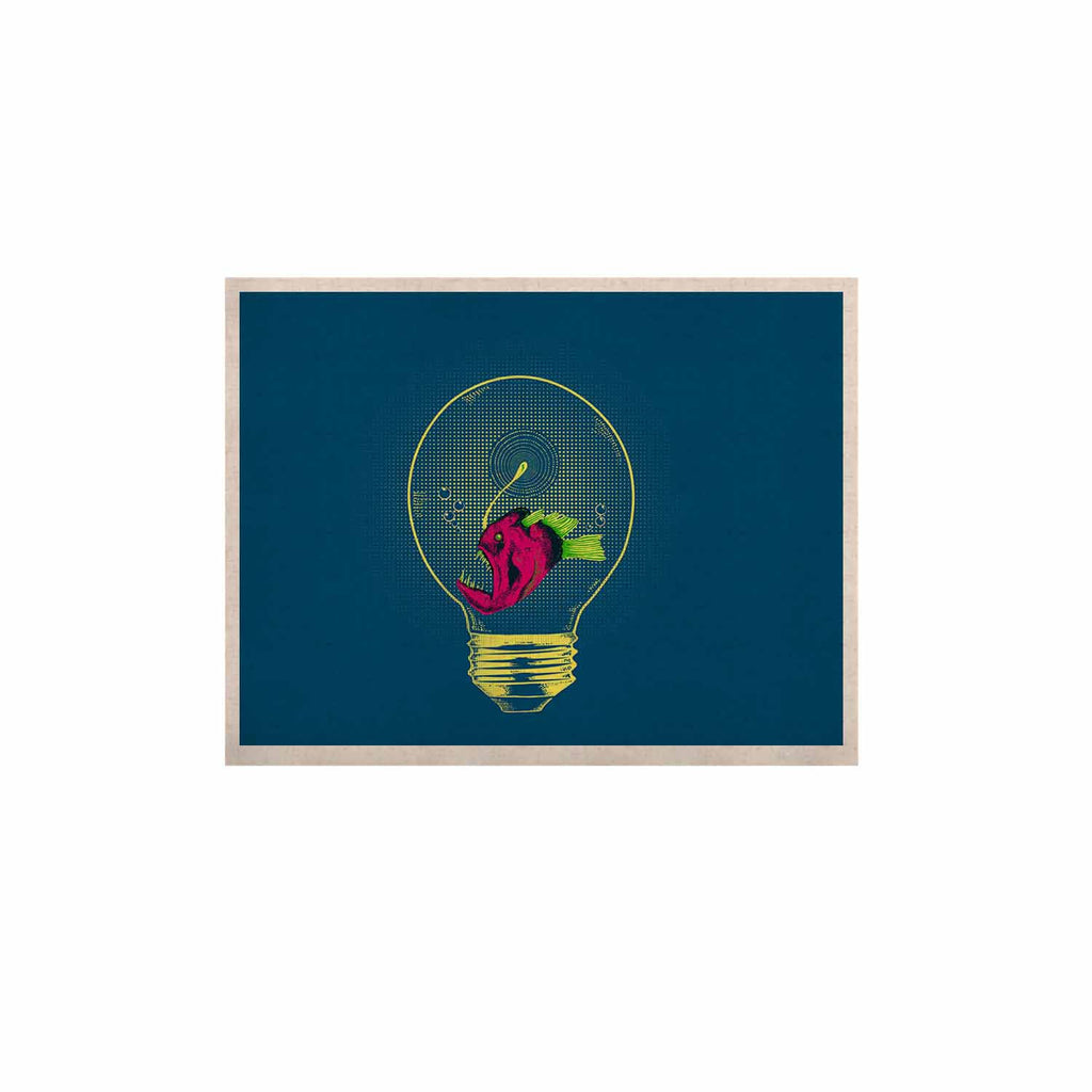 "BarmalisiRTB ""Anglerfish Bulb"" Blue Red KESS Naturals Canvas (Frame not Included) - KESS InHouse  - 1"