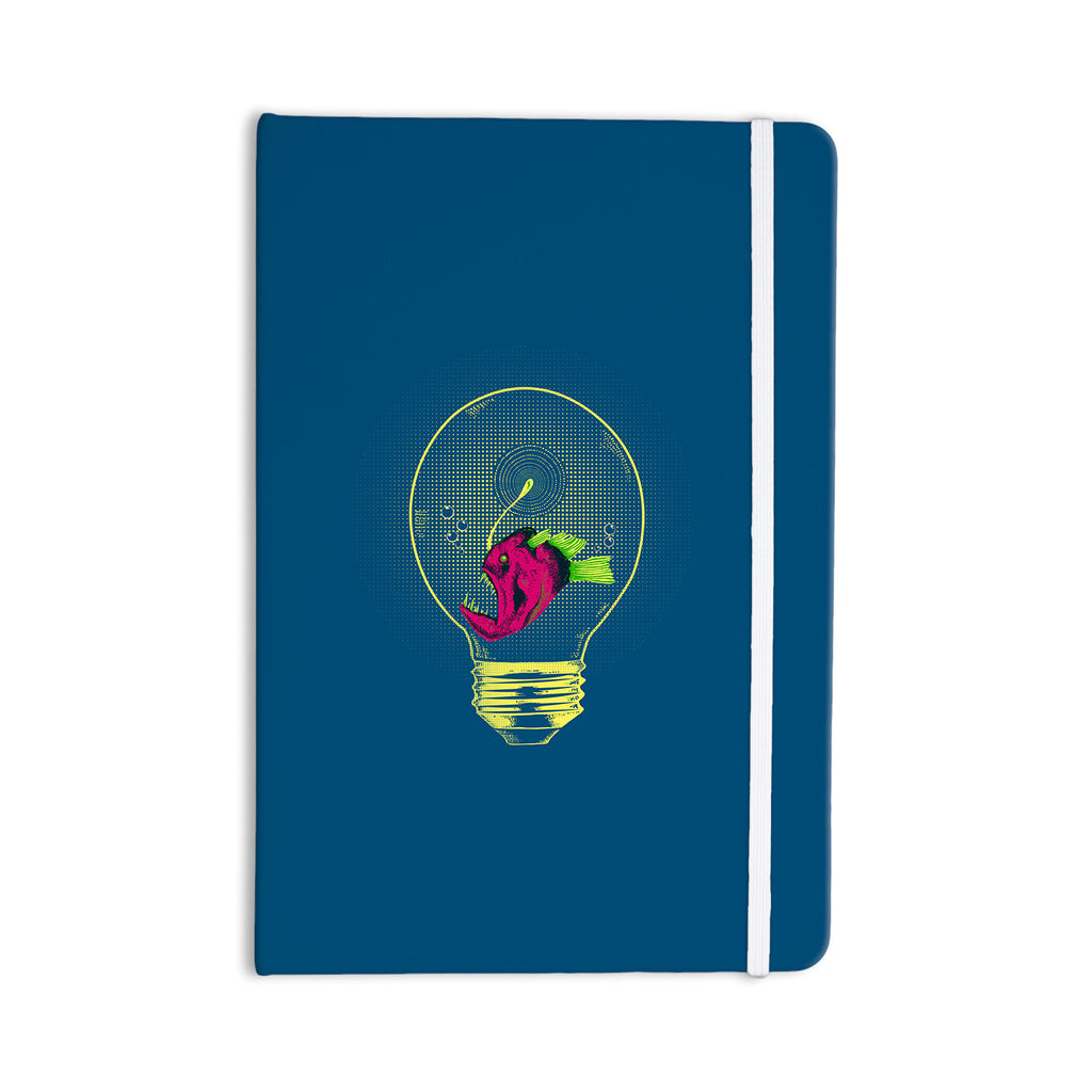 "BarmalisiRTB ""Anglerfish Bulb"" Blue Red Everything Notebook - KESS InHouse  - 1"