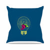 "BarmalisiRTB ""Anglerfish Bulb"" Blue Red Outdoor Throw Pillow - KESS InHouse  - 1"