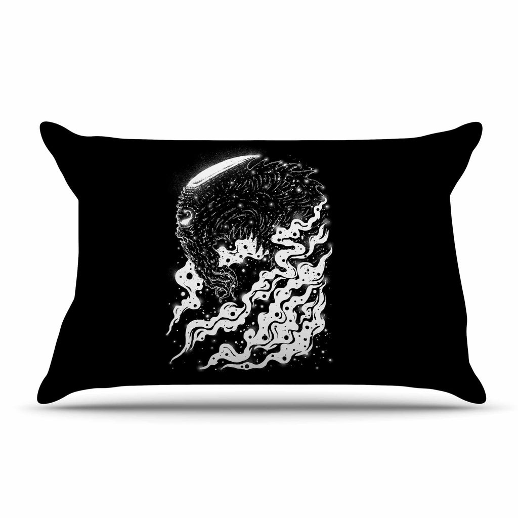 "BarmalisiRTB ""Alien Light"" Black White Pillow Sham - KESS InHouse"