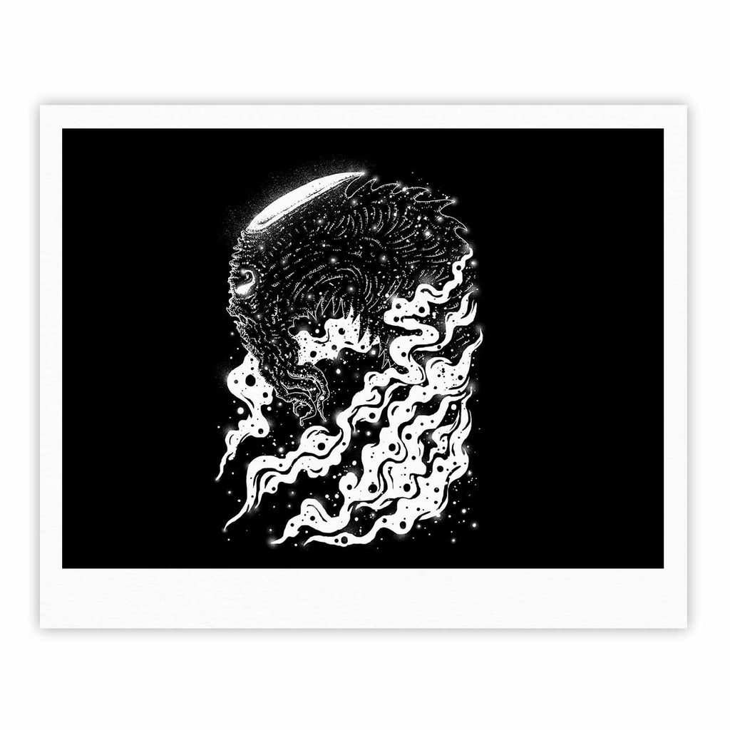 "BarmalisiRTB ""Alien Light"" Black White Fine Art Gallery Print - KESS InHouse"