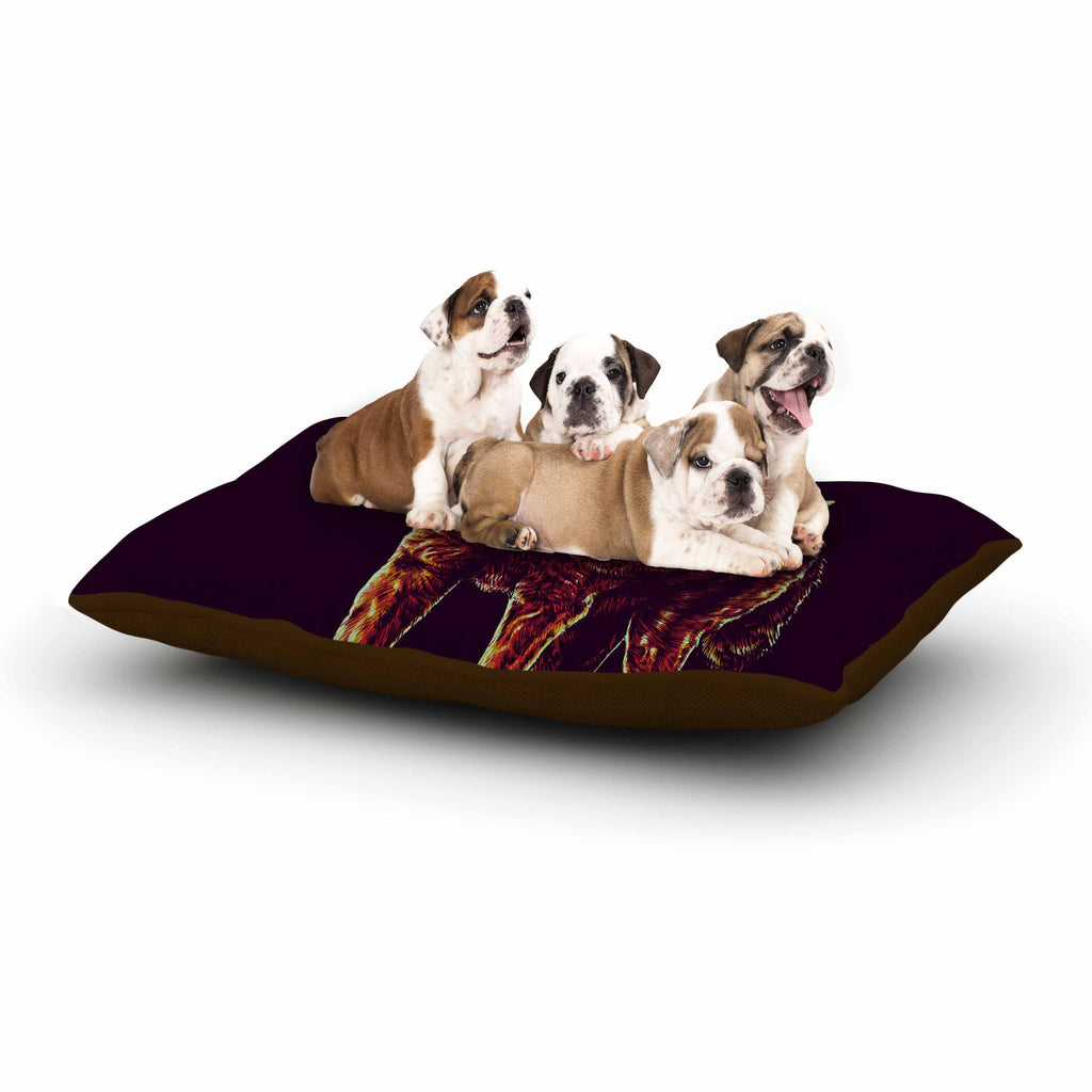"BarmalisiRTB ""2head"" Purple Red Dog Bed - KESS InHouse  - 1"