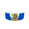 "BarmalisiRTB ""Why In The Cloud"" Blue Yellow Illustration Pet Bowl"