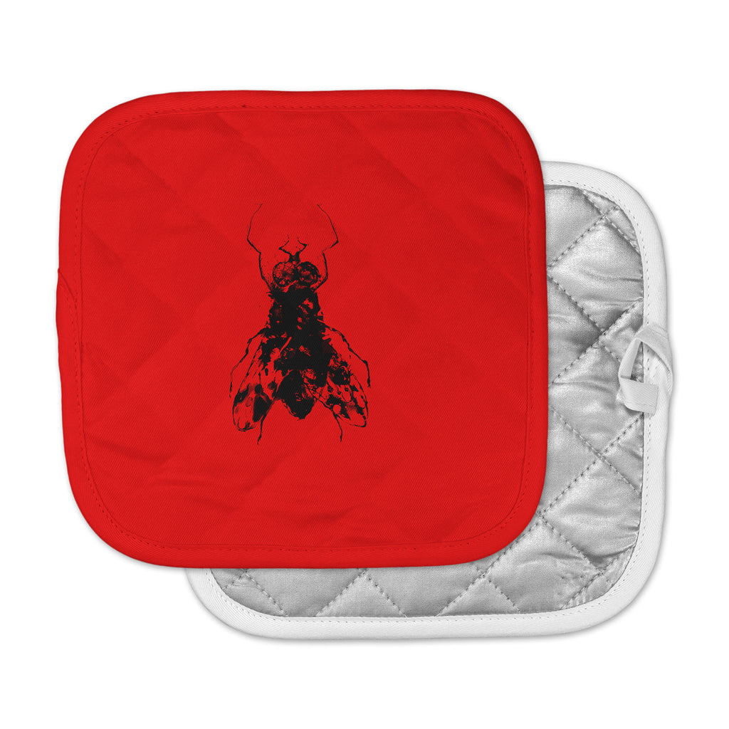 "BarmalisiRTB ""The Fly"" Black Red Pot Holder"