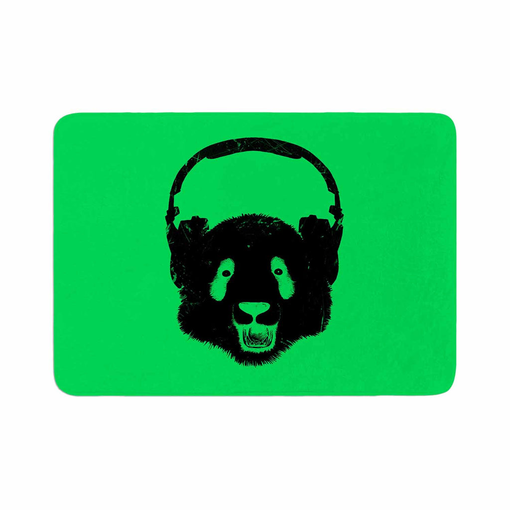 "BarmalisiRTB ""Black Panda"" Black Green Digital Memory Foam Bath Mat"