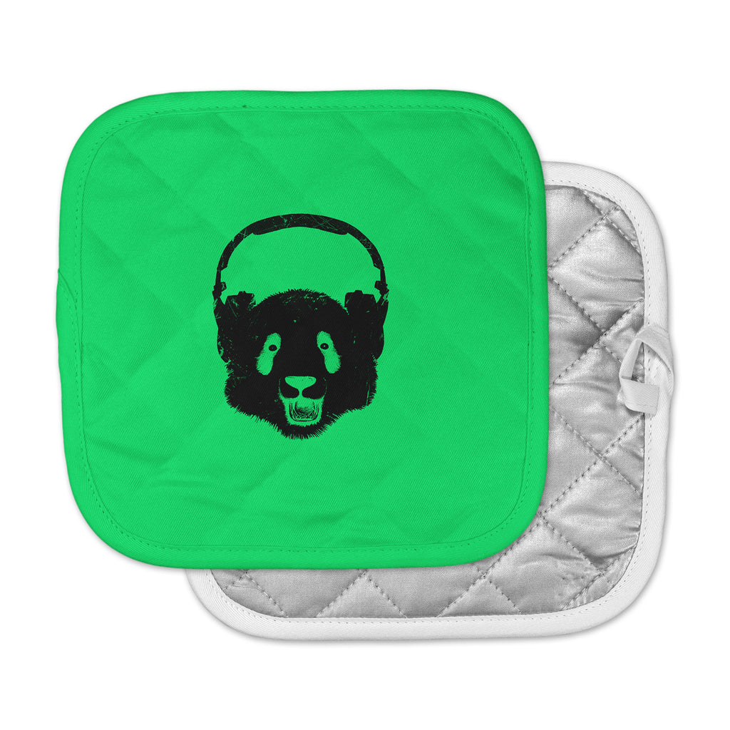 "BarmalisiRTB ""Black Panda"" Green Pot Holder"